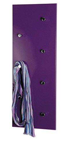 PEGANE Garderobe en Tube d'acier Coloris Optique Mûre-chromé-nickelé, L80x P5,5X H30 cm