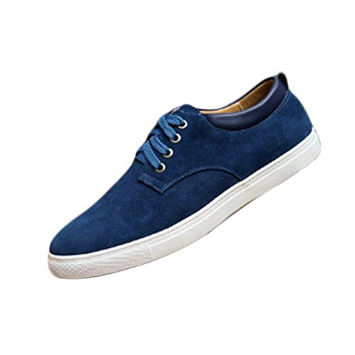 Huicai Calzado Deportivo para Hombre Casual Antideslizante Color sólido Cordones Zapatos de...