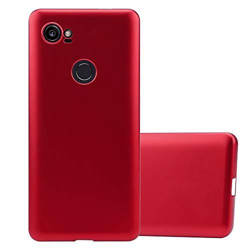 Cadorabo Funda para Google Pixel 2 XL en Metallic Rojo - Cubierta Proteccíon de Silicona TPU Delgada e Flexible con Antichoque - Gel Case Cover Carcasa Ligera