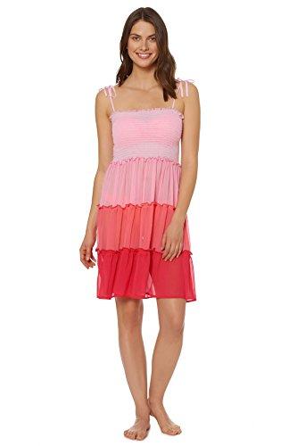 Bleu Rod Beattie Damen Tankkleid mit Rüschen und Fertigen - rot - Large