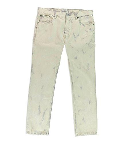 Ecko Unltd. Mens LA Bouche Slim Fit Jeans, Off-White, 34W x 30L