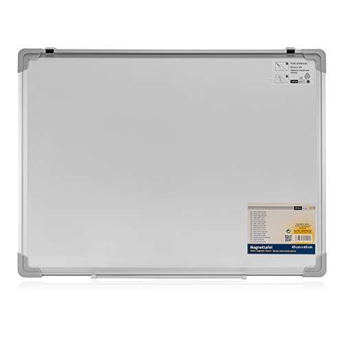 Whiteboard beschreibbar Schreibtafel OFFICE POINT | Magnettafel weiß magnetisch | Wandhalterung & Stiftablage | abwischbar | 60x45 cm (1)