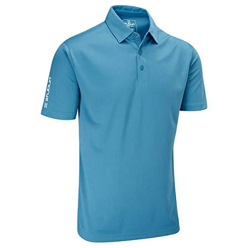 Stuburt Golf SBTS453 Polo de Golf Respirant et Extensible en Acier Bleu Taille S