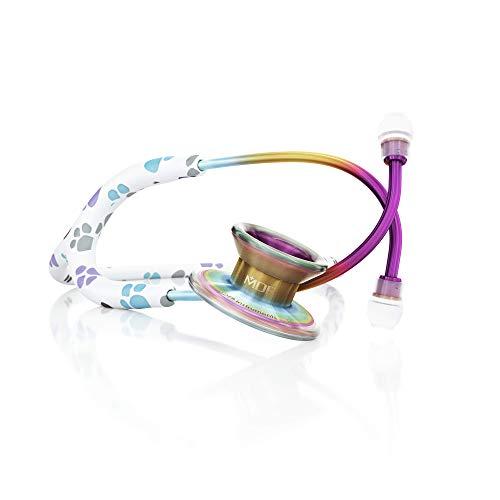 MDF Patas/Caleidoscopio MD One Epoch Estetoscopio, Titanio Ligero, Doble Cabeza, Adulto, Programa-piezas-gratuitas-de-por-vida, Tubo: Patas, Membrana y Auricular: Caleidoscopio, MDF777TPWKL