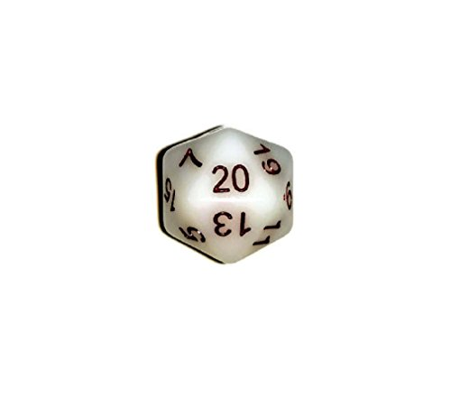 Glow in The Dark d20 Initiative Advantage Die for Role-Playing Games. 20 Sided RPG Dice.
