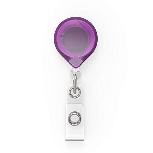 Key-Bak Key-Bak Mini bobine rétractable avec 91,4 cm Corde de nylon, pivotant Bulldog Clip et sangle de ID en vinyle, mixte, violet