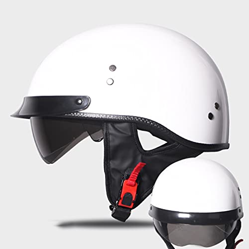 KKAAMYND Cascos Abiertos De Moto Half-Helmet Cascos De Motocicleta Retro Medio Casco Cruiser Chopper Scooter Piloto Jet Casco Adulto Four Seasons Safety Collision Cap ECE Homologado