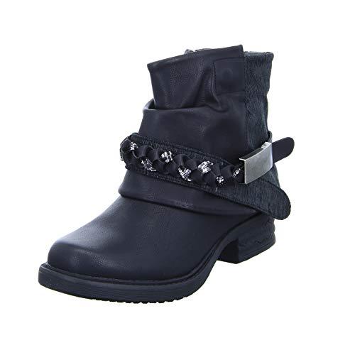 Alyssa SN00918 Damen Stiefelette Schwarz (Black) Größe 40 EU
