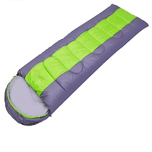 HUHUO Saco de Dormir de 4 Estaciones, portátil, Saco de Dormir al Aire Libre para Adultos, Saco de compresión Adecuado para Adultos y niños, Interior y Exterior, Camping, mochilero, Senderismo