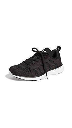 APL: Athletic Propulsion Labs Women's Techloom Pro Sneakers, Black/White/Black, 9 Medium US
