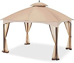 Garden Winds Replacement Canopy for The Massillon Biscayne Gazebo - Standard 350 - Beige