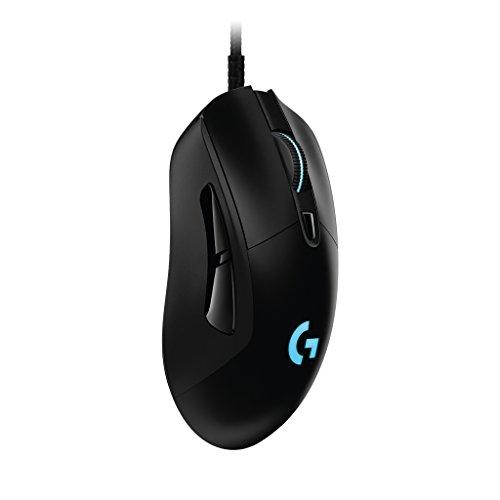 ゲーミングマウス Logicool ロジクール G403 ブラック エルゴノミクスデザイン RGB プログラムボタン DPI切...