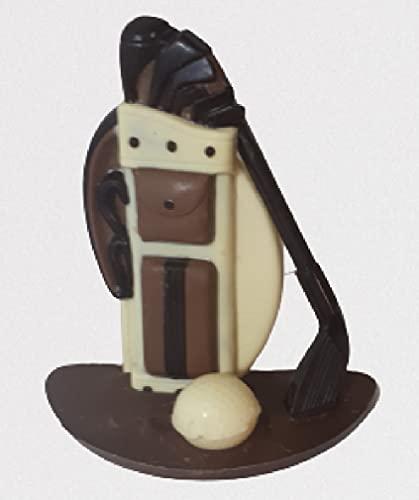 08#021521 Schokoladen Golf Set, auf Schokoladen Platte STEHEND ODER LIEGEND, ca.450 g. Golfer, Golfspieler, Geburtstag, Geschenke, Geschenk,