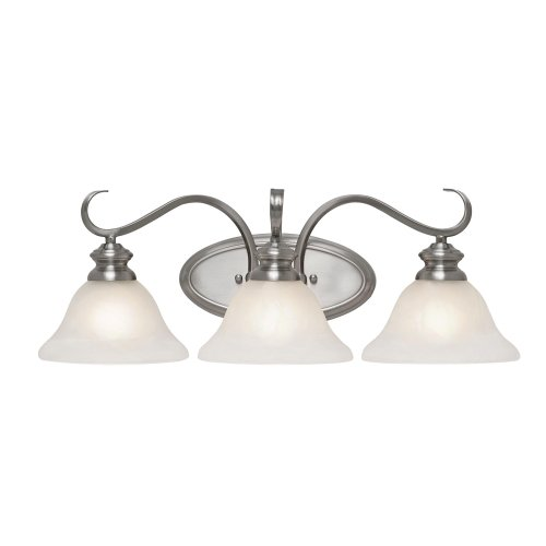 Golden Lighting 6005-BA3 PW Lancaster Bath Fixture, 23-1/4-Inch W by 8-Inch H by 8-Inch Ext, Pewter