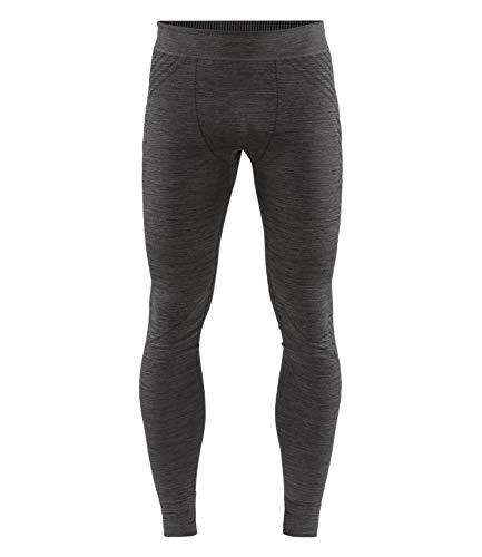 Craft Homme fuseknit Comfort Pants M L Base Layer, Noir chiné, L