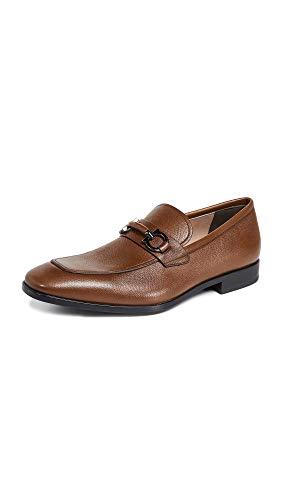 SALVATORE FERRAGAMO Men's Benford Loafers, Tan, 10.5 Medium US