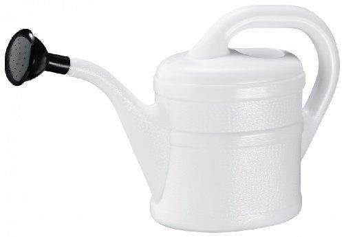 Geli Kunststoff-Gießkanne 2 L, weiß mit Aufsteckvorrichtung, 702 002 10
