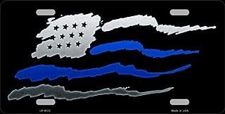 Smart Blonde American Flag Blue Line Novelty Metal License Plate LP-8532