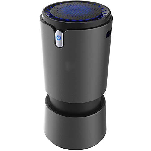 Auto Luchtreiniger, Rook, Huisdieren, Pollen Schimmelbacteriën USB-Poort Voeding Elimineren,Black