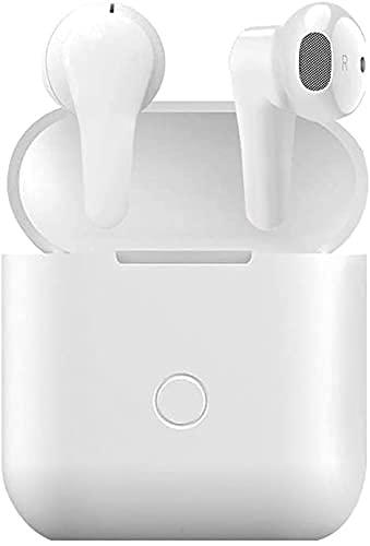Auricolari wireless Bluetooth 5.0 con cancellazione del rumore IPX5, auricolari impermeabili in-ear, microfono integrato, cuffie audio 3D, compatibili con Phone Android Samsung per lavoro, casa