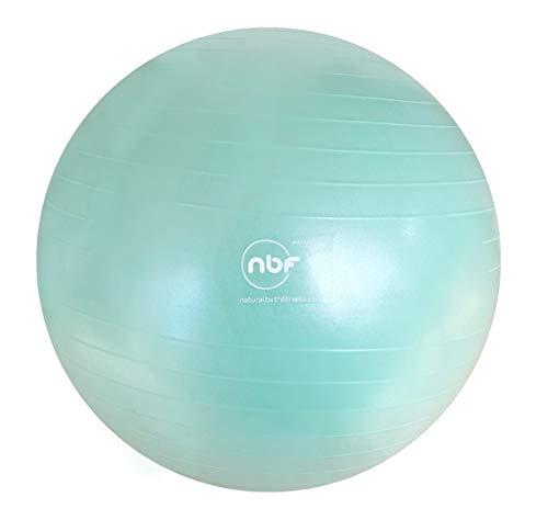 Bola de nacimiento natural y fitness, bomba y guía de instrucciones - 55 cm, 65 cm, 75 cm, bola antiestallido NBF para embarazo, maternidad, trabajo, yoga, ejercicio prenatal y postnatal, 65 cm, menta