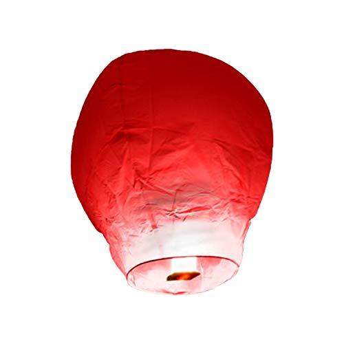 TellementHappy Lanterne chinoise volante Rouge100% biodégradable qualité supérieure en papier Le Lampion mesure 90cm*60cm idéal pour vos événements mariage fêtes nouvel an lot de 10