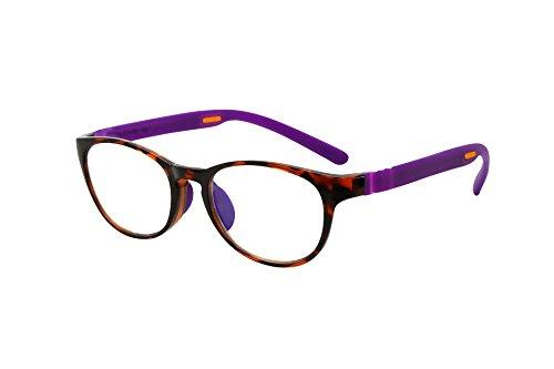 FLOAT READING フロート リーディング (老眼鏡) テンプル(腕)のカラーを選べる グッドデザイン賞受賞のオシャレな老眼鏡 鯖江企画 驚きの掛け心地 首にも掛けれる ブルーライトカット 超軽量 モデル:ウッド (ウッド + パープル, 度数+2
