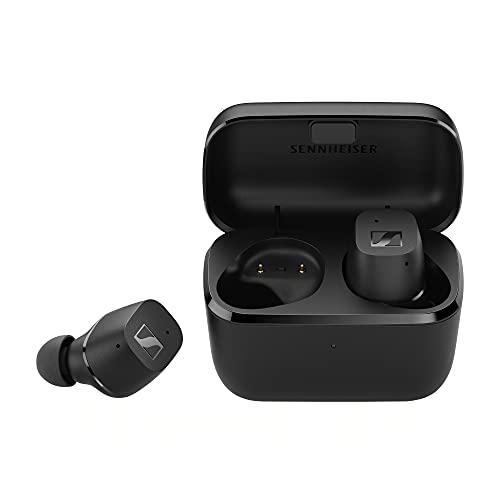 Sennheiser CX True Wireless Bluetooth-In-Ear-Ohrhörer mit passiver Noise Cancellation, anpassbarer Touch-Bedienung, Bass Boost, Spritzwasserschutz (IPX4) und 27 Stunden Akkulaufzeit, schwarz