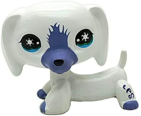 N/N Littlest Pet Shop, LPS Toy Custom OOAK LPS White Dachshund Dog German Shepherd