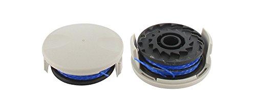 Ryobi 5132002670 RAC122 Fadenspule mit Deckel zu Elektrotrimmer RLT4027, Fadenstärke 1,5 mm, Schwarz, Blau, Grau