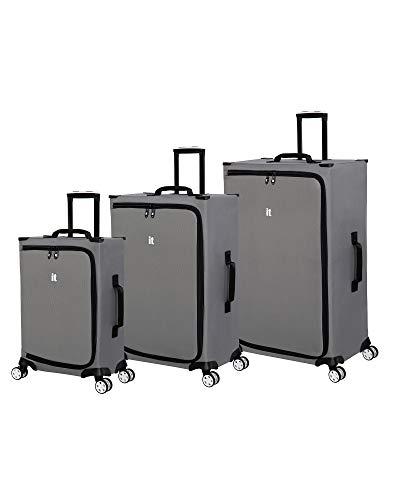it luggage MaXpace Softside Spinner Wheel, Smoked Hawk, 3 Piece Set (22/27/31)