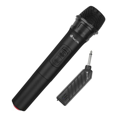 NGS Singer Air - Micrófono Inalámbrico Vocal Dinámico, Alcance de 20 Metros y Plug&Play