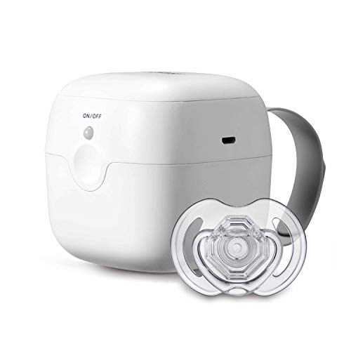 Nuby  -Promo Pack: Esterilizador Portátil de UV para Chupetes + 1 Chupete Incluido, Blanco
