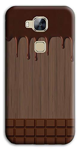 Mixroom - Cover Custodia Case in TPU Silicone Morbida per Huawei Ascend G8 M733 Tavoletta di Cioccolata Sciolta