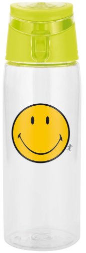 Zak ! Designs 6187-K951 - Cantimplora hermética (75 cl), diseño de Smiley, Color Verde