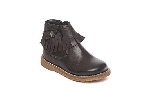 (6 UK Child, Navy) - Girls Leather Chelsea Dealer Boots Size 4 5 6 7 8 9 10 11 12 Infant Fringe Detail