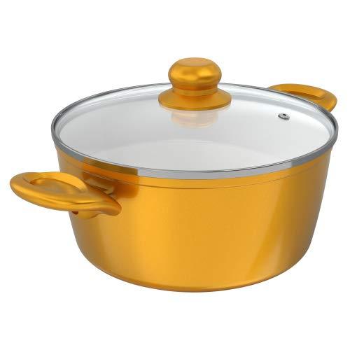 Genius Cerafit Gold Topf | Ø 26 cm | Koch-Topf | Suppen-Top | Bekannt aus TV | NEU