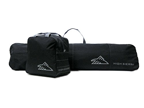High Sierra Snowboard Sleeve & Boot Bag Combo, Black/Black