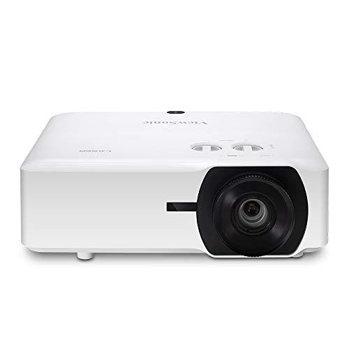 Proyector láser ViewSonic DLP LS850WU (WUXGA, 5000 lúmenes ANSI, 2X HDMI, 2X Altavoces de 10 vatios, Zoom óptico de 1,6X, Funcionamiento 24 Horas al día, 7 días a la Semana) Blanco