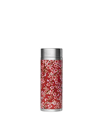 QWETCH Thermoskanne 300 ml Rote Blumen