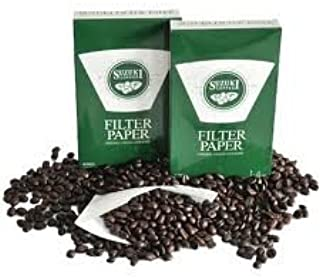 Suzuki Coffee Filter Paper Srong Clean and Safe Size 1-2 Cups 40 Pieces