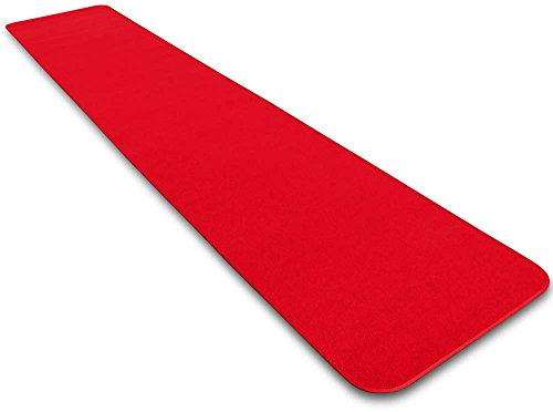 House, Home and More Red Carpet Aisle Runner - 3' x 10' - Many Other Sizes to Choose From