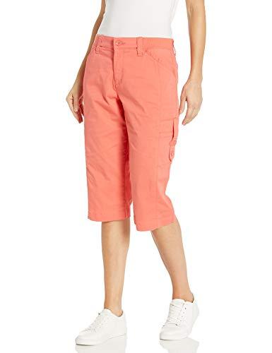 Lee Damen Flex-to-Go Relaxed Fit Cargo Skimmer Capri Pant Unterhose, Lachsfarben, 38