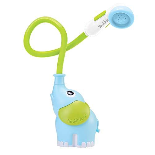 YOOKIDOO - Douchette Bain Éléphant Bleu - Jouet Bain bébé - Jeu Bain et Douche Yookidoo - Eveil des sens - Tuyau Aspergeur Jouet de Bain bébé - Cadeau bébé de 0 à 2 ans