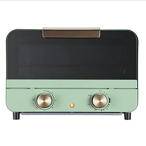 HXXXIN Horno Retro para Hornear para el hogar Multifuncional Mini máquina de Pastel pequeña Caja para Hornear Horno eléctrico 12L