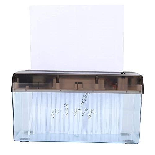4,5 x 10,8 Zoll USB Elektro Aktenvernichter zum Zerkleinern von A4 Papier Desktop Mini rutschfeste Papierschneidemaschine Office Home School Verwendung