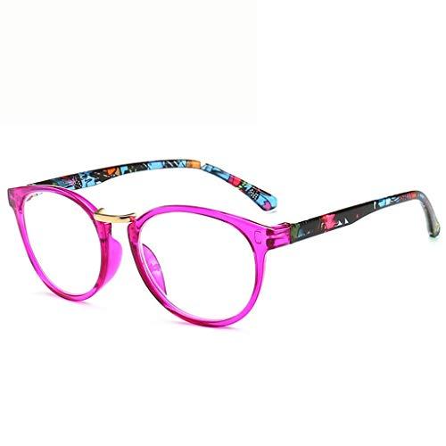 Federscharnier Lesebrillen Gute Brillen Lesehilfe Sehhilfe Ultra-klare Sicht Computer Brille Herren Damen (Color : Pink, Size : +3.00)