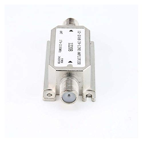 DZJUKD Amplificador en línea 12-20dB (Amplificador de línea de Pendiente satelital) (1220b) Amplificador Funciona con Todo satélite para Cable, módem, (Color : As Show)
