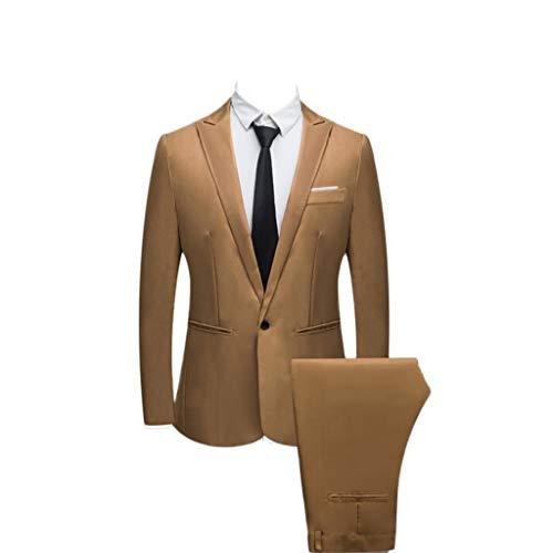 FRAUIT Abito Uomo Completo Elegante Estivo Vestito Elegante Uomo + Pantaloni Tuta Uomo Cotone Giacca Uomini Elegante Slim Fit Cappotto Leggero Uomo Vestiti Uomo Cerimonia Giacca Costume Festivo