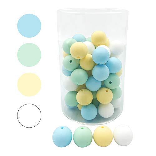 DIY slicone Dentición Perlas 15mm 50pc masticable Sensorial Perlas Accesorios de Enfermería